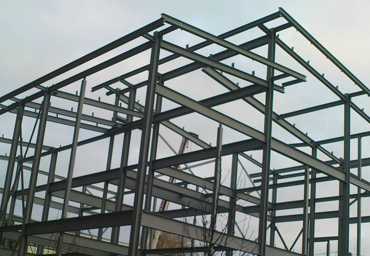 Steel Frame House Construction : Steel frame buildings miller construction